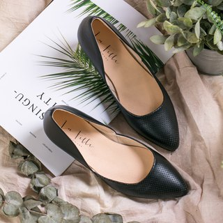 Pointed wedge shoes _ black