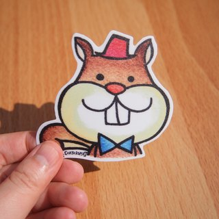 Waterproof stickers - tooth squirrel Aberdeen