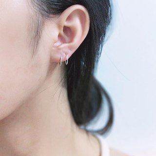 │Simplified │ double circle • sterling silver earrings