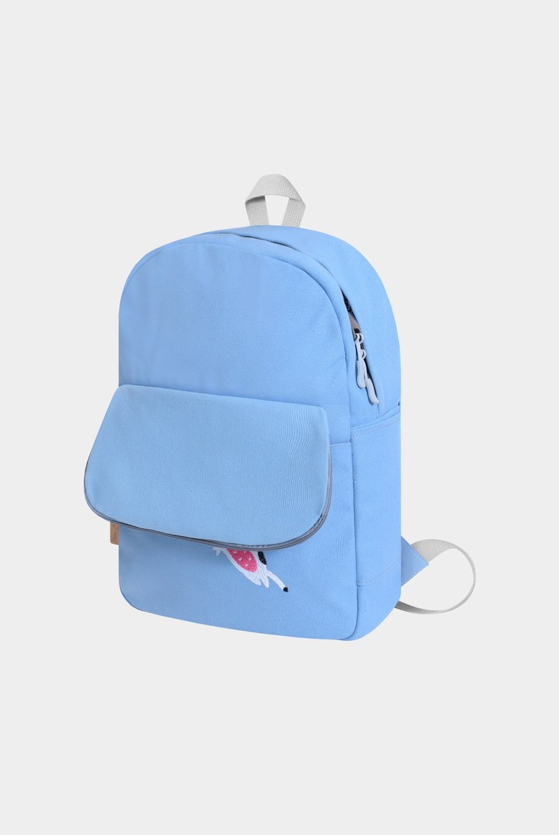 [New upgrade] sleep to the butt fall out - milk beans, mint blue canvas backpack