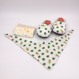 Ladybug lucky grass - Miyue baby gift box (toddler shoes / baby shoes / baby shoes + 2 handkerchief + scarf)