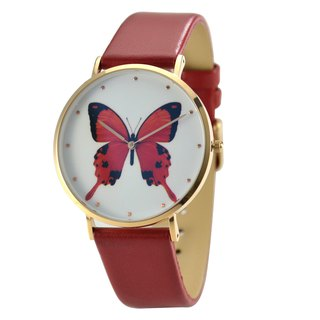 Classic Minimalist Butterfly Watch Red - Free shipping worldwide