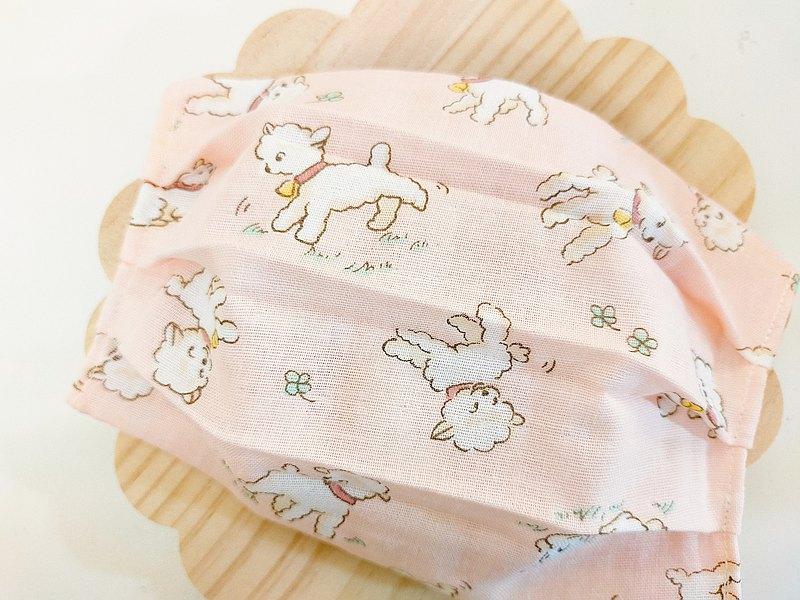可愛小羊雙層紗口罩套、布口罩