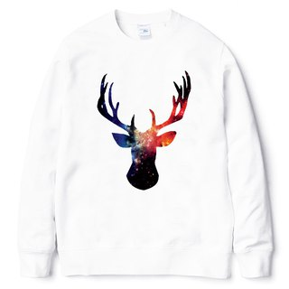Cosmic Stag University T bristles white deer universe cheap fashion design own brand Milky Way fashion triangle