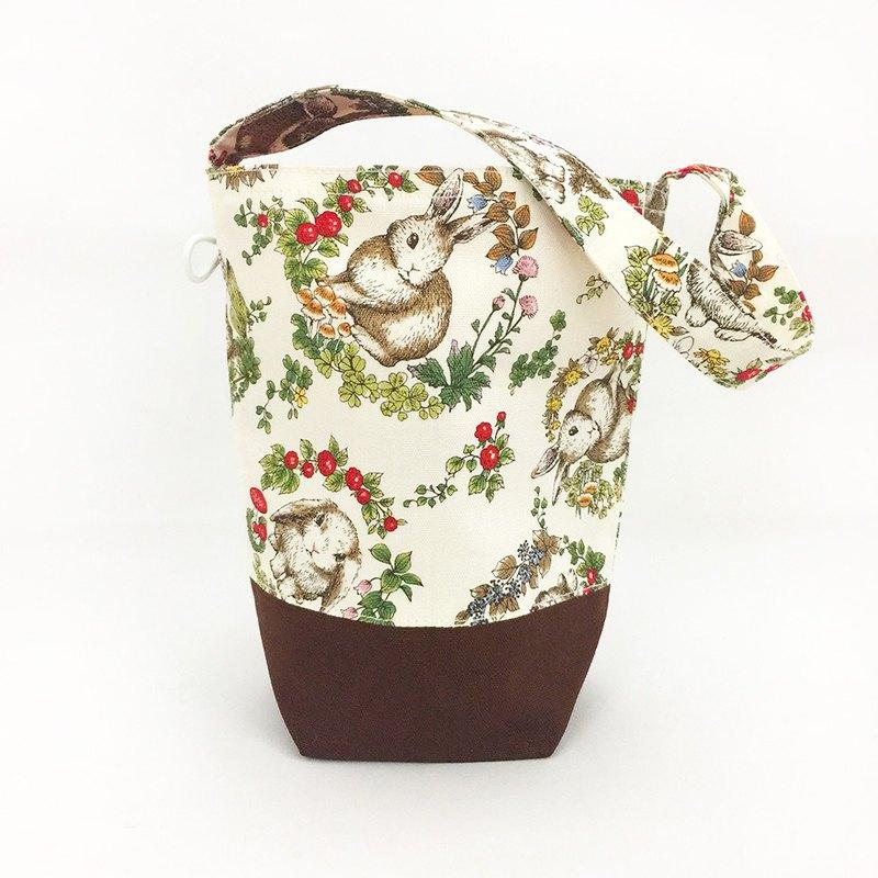 花環兔子款 外出袋 手提袋 飲料袋 防水提袋