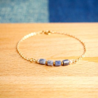 """KeepitPetite"" natural temperament • Blue proluta • Mini • Gold-plated bracelet pearl bracelet · gift"