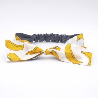 /Handmade ribbon headband/  Banana or dolphin 2 way
