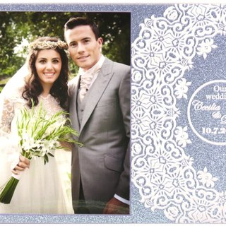 Custom engraved photo frame (4R photo) - We got married B theme x personalize