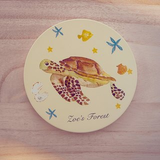 I love Zoe's forest turtle ceramic coaster