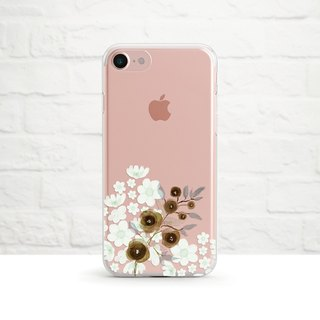 Floral- Clear Soft Phone Case, iPhone X, iPhone 8, iPhone 7 plus, iPhone 6