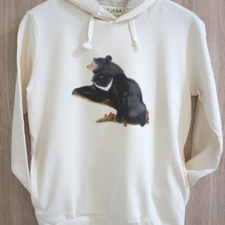 Taiwan Black Bear & Yushan Rubbish Long Sleeve Hooded T (female models)