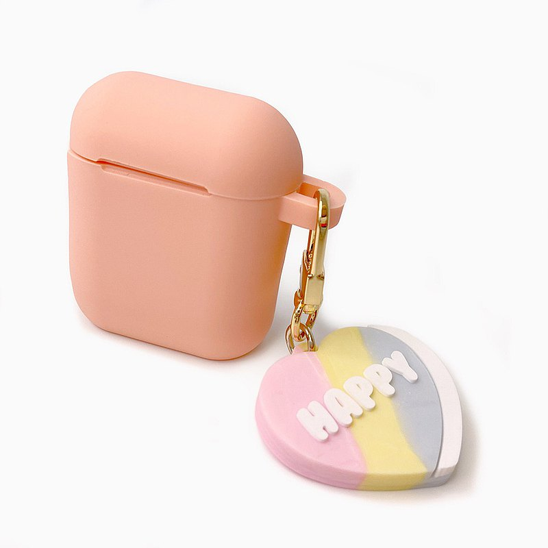 【Candies】Air Pods 收納盒 粉 Happy Heart Candy