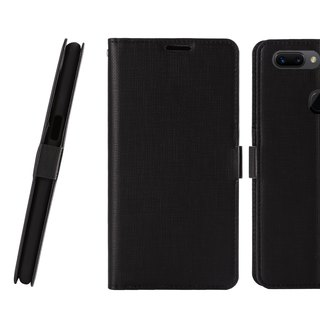 CASE SHOP OPPO R15 Pro Dedicated Side Leather Case - Black (4716779659832)
