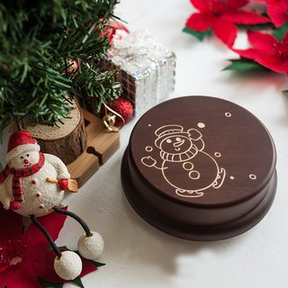 Memorial gift, christmas gift, cute snowman customization music box // christmas gift