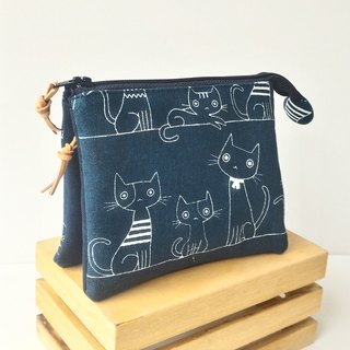 Blue cat five-layer bag for yourself and mom's best mother's day gift