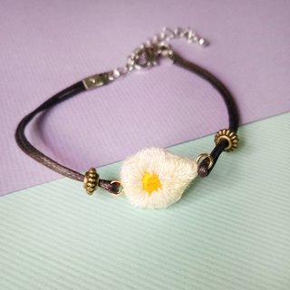 Department of food embroidery poached egg bracelet hand embroidery