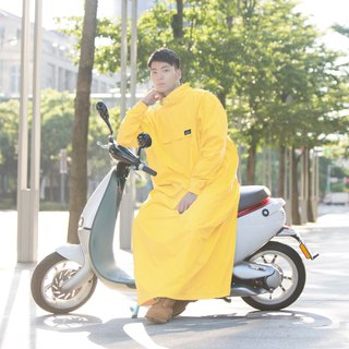 PostPosi environmental protection anti-wear raincoat second generation - classic yellow _ designed for the locomotive family - 2018 new
