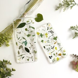 Green melody ::pressed flower phonecase