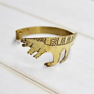Big tail dinosaur copper bracelet