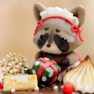 Sweet Dream ☆ Christmas ☆ maid raccoon sister chocolate Shu Fulei muffins / pure decoration / exchange gifts