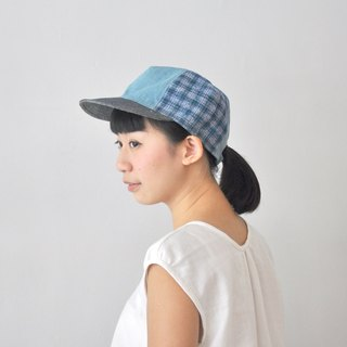 Baseball Cap - Hand-Knitted Fabric - Denim Denim, Retro, Vintage, Outdoor, Casual