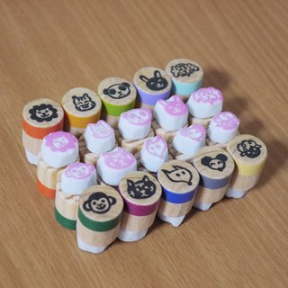 Hand carved rubber stamp _ the bulk of the animals chapter (1 group of 10 into)