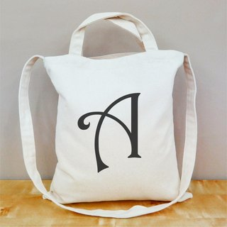 【Customized gifts】 custom-made English single-word text straight canvas bag