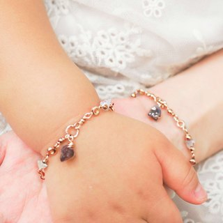 [Parental Bracelet] Rose Boswana Love is the only parent-child | sister double-chain group customized gift