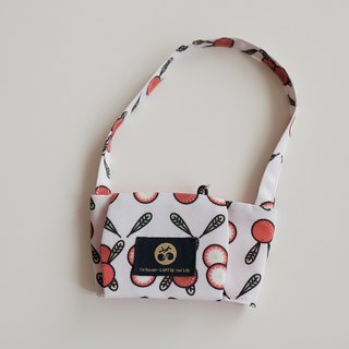 Beverage bag, bayberry, breath print
