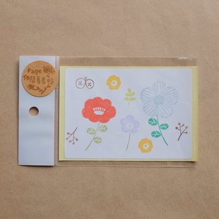 Flowers blossoming open sticker