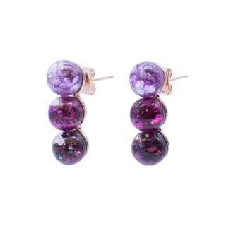 Triple Snowball Earrings