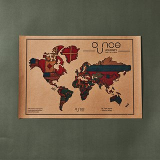 The OUNCE World Map - Vintage