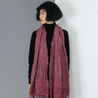 【Spot】 cotton and linen shawl burgundy