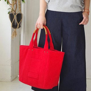 Kurashiki canvas tote bag - Phoenix red