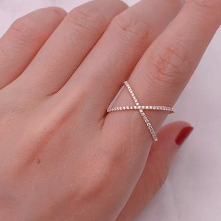 X series design diamond ring