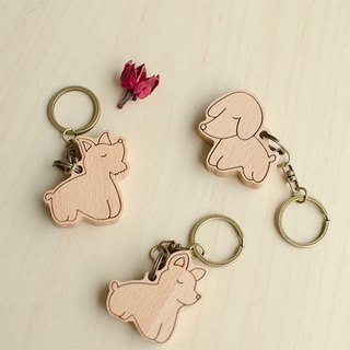 [Birthday gift] proud dog family / custom key ring charm