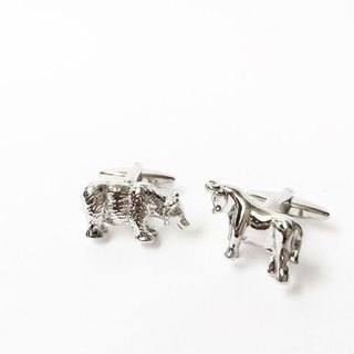 Bank Finance Stock Market Cattle Cufflinks Cow, Bear Cufflink