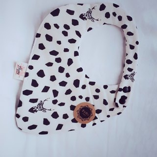 Eaka Etsuko Designer Cloth - Rice White - Elk - Eight Layers 100% Cotton Double Sided Strawberry Bib. Saliva Towel