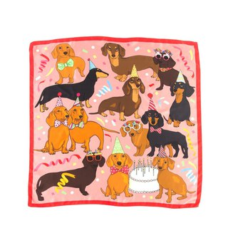 Hot dog Birthday party silk scarf