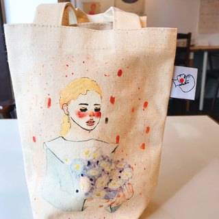 Dreamy white flower eco-friendly beverage bag