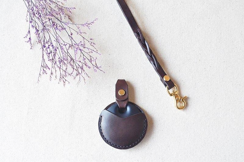 gogoro皮革鑰匙套-焦茶