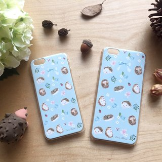 Zoe's forest Blue and Green Hedgehog Mobile Shell iphone 7/7plus/8/8plus/X