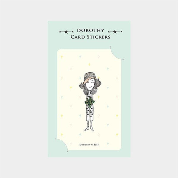 Dorothy ticket waterproof stickers - hat girl (9AAAU0019)