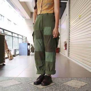 Tsubasa.Y ancient house stitching re-made military pants 001, military pants stitching vintage remanufacturing