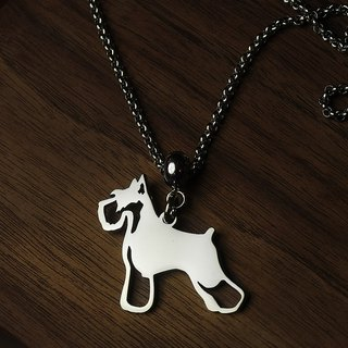 [Loveit] Stainless Steel Long Necklace - Cutout Dog