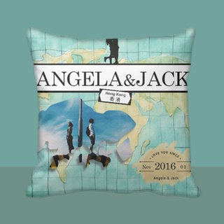 Customize Pillow- Map personlised cushion