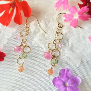 Handmade earring candy circle