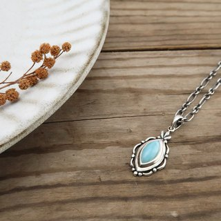 Larimar Necklace 925 Sterling Silver