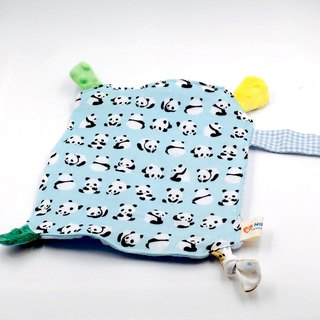 Jumping blue panda to comfort the towel bean comfort pacifier