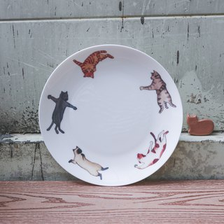 8 Skull Porcelain Plate - Drunken Boxing / Cat / Comet / Birthday Gift / Microwave / by SGS
